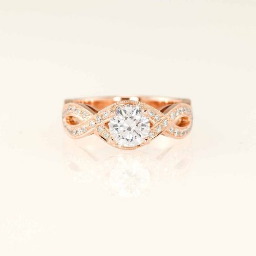 Infinity - Custom 18k Rose Gold Diamond Engagement Ring - NEWA Goldsmith