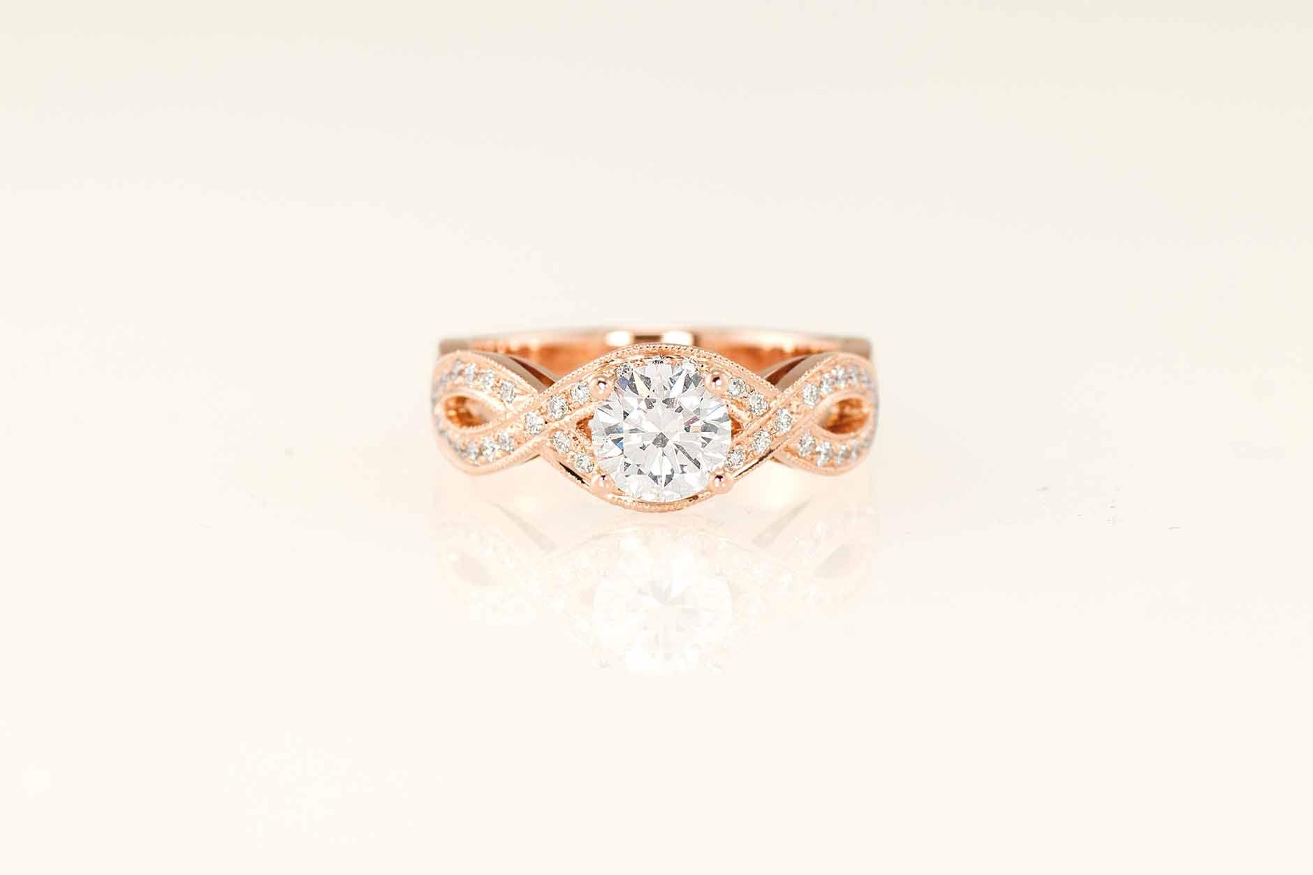 Infinity - Custom 18k Rose Gold Diamond Engagement Ring - NEWA Goldsmith